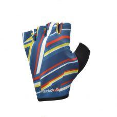 Женские перчатки для фитнеса Reebok (без пальцев цветные)