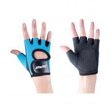 Перчатки Starfit для фитнеса SU-107, синие/черные