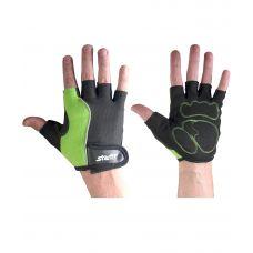 Перчатки Starfit для фитнеса SU-108, зеленые/черные