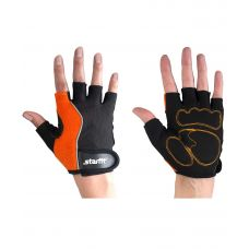 Перчатки Starfit для фитнеса SU-108, оранжевые/черные