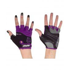 Перчатки Starfit для фитнеса SU-113, черные/фиолетовые/серые