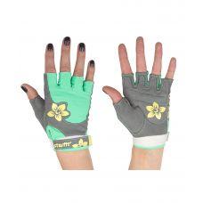 Перчатки Starfit для фитнеса SU-112, серые/мятные/желтые
