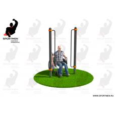 Поручни для подъема на инвалидной коляске