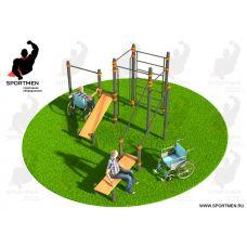 Спортивный комплекс, адаптированный для инвалидов-колясочников СВС-130-М