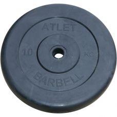 Диски обрезиненные, чёрного цвета, 31 мм, Atlet MB-AtletB31-10