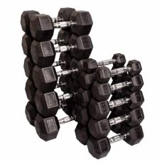 Набор обрезиненных гантелей от 1 до 35 кг (20 пар) (Body-Solid)