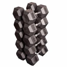 Набор обрезиненных гантелей от 37,5 до 45 кг (4 пары) (Body-Solid)