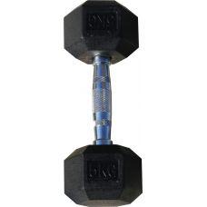 Гантель гексагональная обрезиненная, хромированная ручка, 5 кг (Body-Solid)