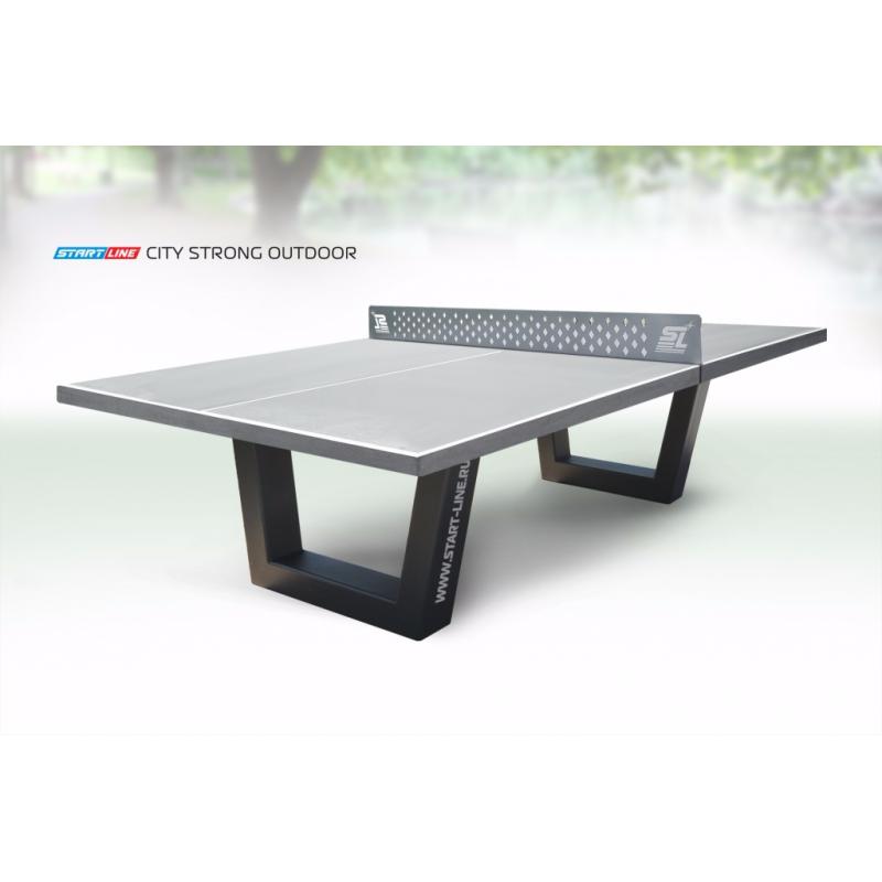 Фотография Теннисный стол City Strong Outdoor - бетонный антивандальный теннисный стол. 0