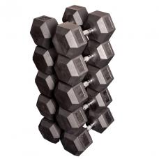Набор гексагональных гантелей: 5 пар от 36 кг до 45 кг (шаг 2,25 кг) (Body-Solid)