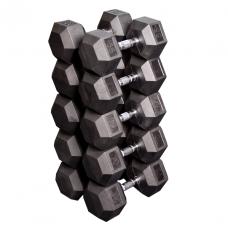 Набор гексагональных гантелей: 5 пар от 24,75 кг до 33,75 кг (шаг 2,25 кг) (Body-Solid)