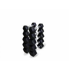 Набор гексагональных гантелей 5 пар от 1 до 5 кг (Fit. Tools)