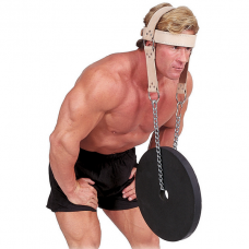 Упряжь для тренировки мышц шеи (кожа)