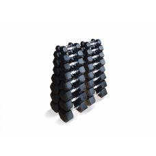 Набор гексагональных гантелей 16 пар от 1 до 25 кг (Fit. Tools)