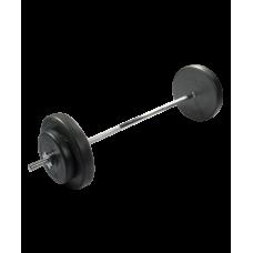 Штанга разборная Starfit, стальной гриф, пластиковые диски, 30 кг